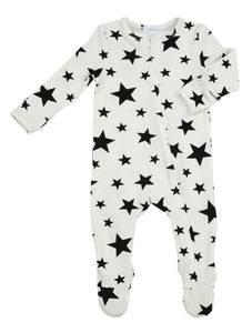 Stars Zipper Footie