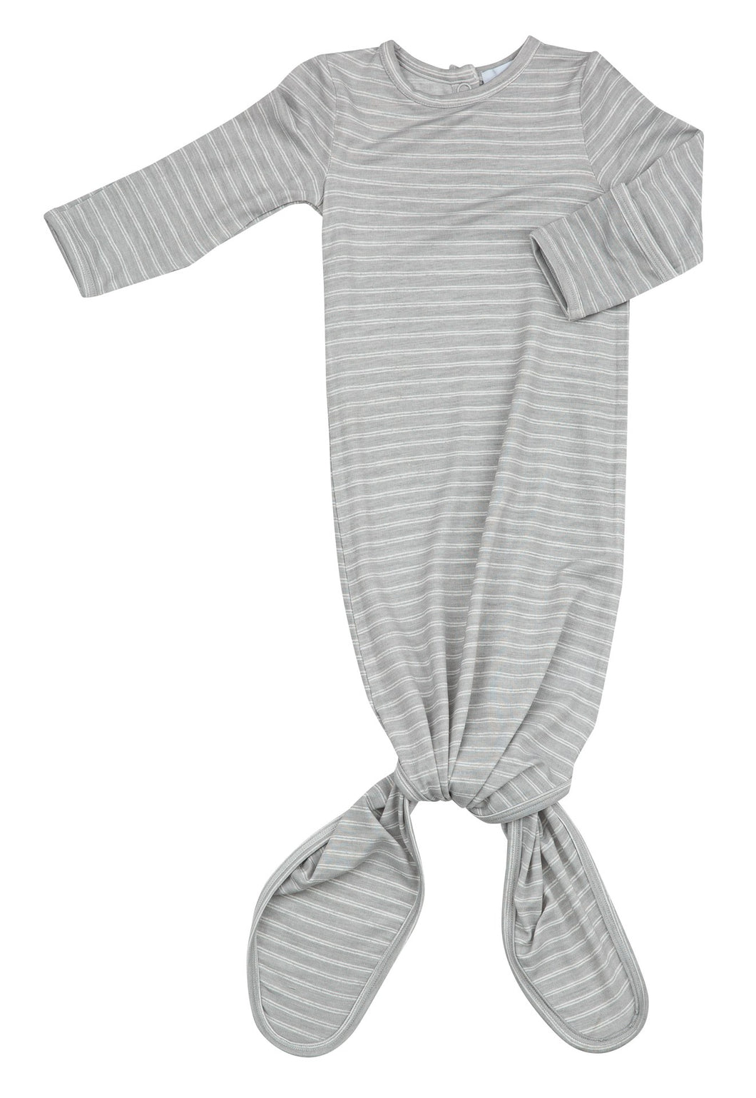 Grey Stripe Hippo Knotted Gown