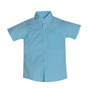 Seafoam Gingham Brother Shirt