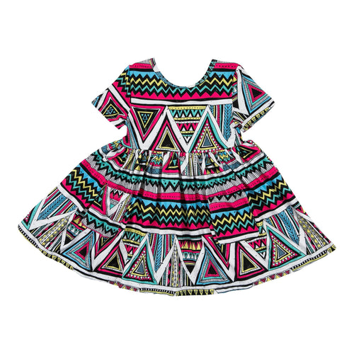Totally Tribal Short Sleeve Pocket Twirl Dress