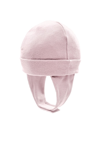 Baby Cap w/ Ear Flaps- Pink (3-6m)