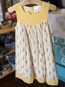Yo Baby - Mustard Dress with Sweetheart Neckline