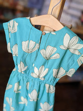 Yo Baby - Teal Floral Jumpsuit with Drawstring Detail