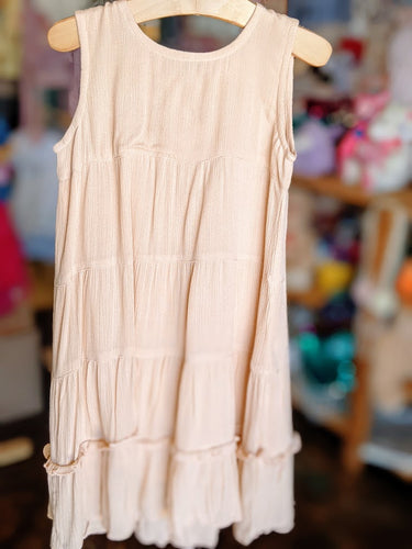 Yo Baby - Tiered Blush Shift Dress
