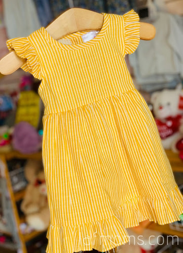 Yo Baby - Mustard Stripe Dress