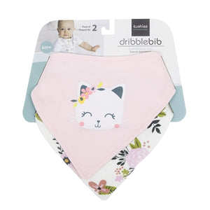 Dribblebib Bandana Bib 2Pack- Pink Kitty