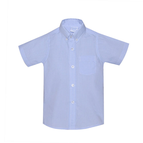 Blue Gingham Brother Shirt