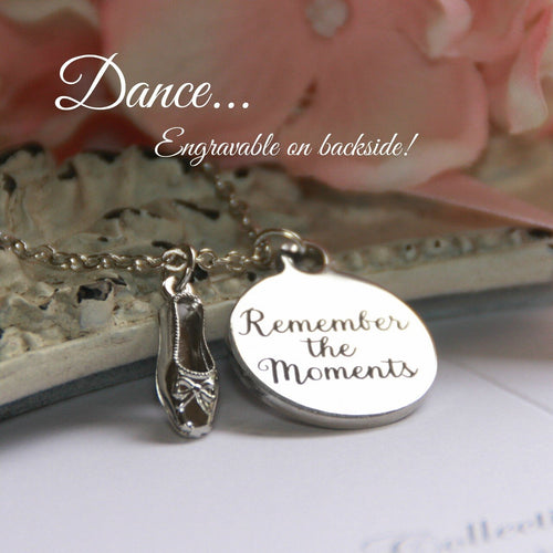 Remember the Moments Dance Charm Necklace