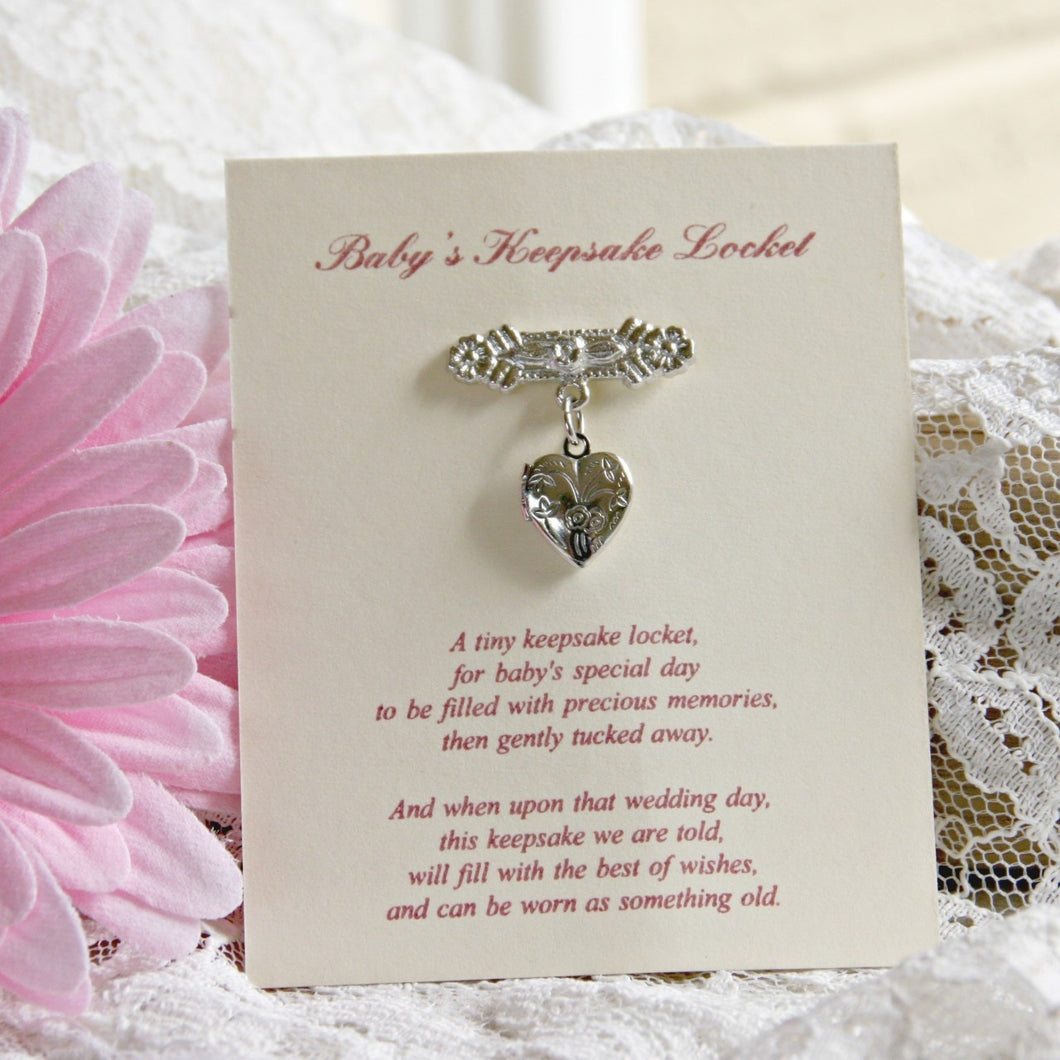 Baby's Keepsake Locket Pin