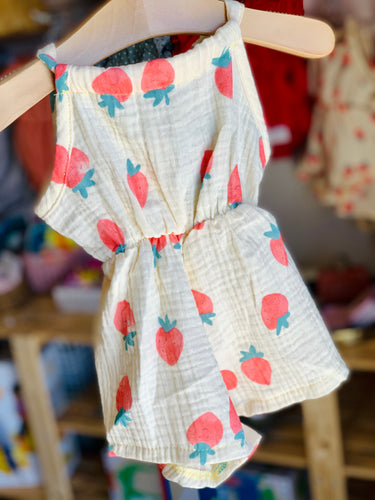 Willow Romper- Strawberry