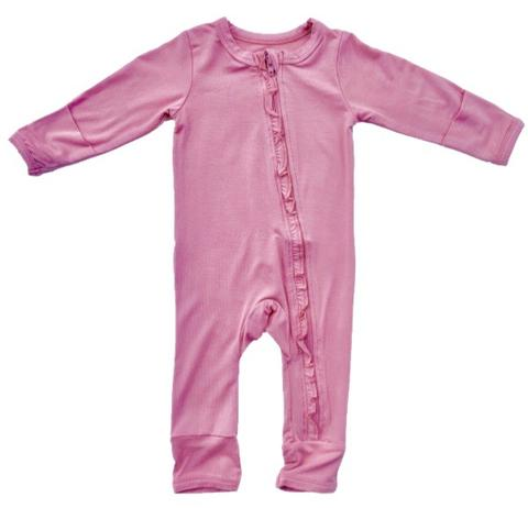 Coverall- Cotton Candy Solid Ruffle