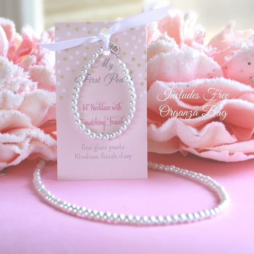 My First Pearls Set with Organza Bag, 5
