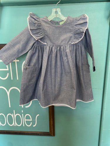 Angel Wing Dress- Chambray