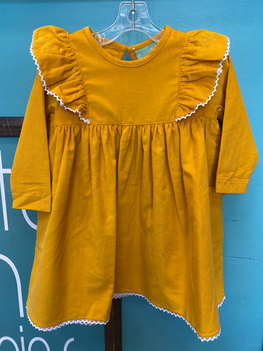 Angel Wing Dress- Mustard