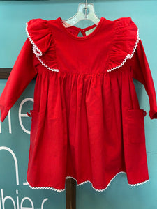 Angel Wing Dress- Red