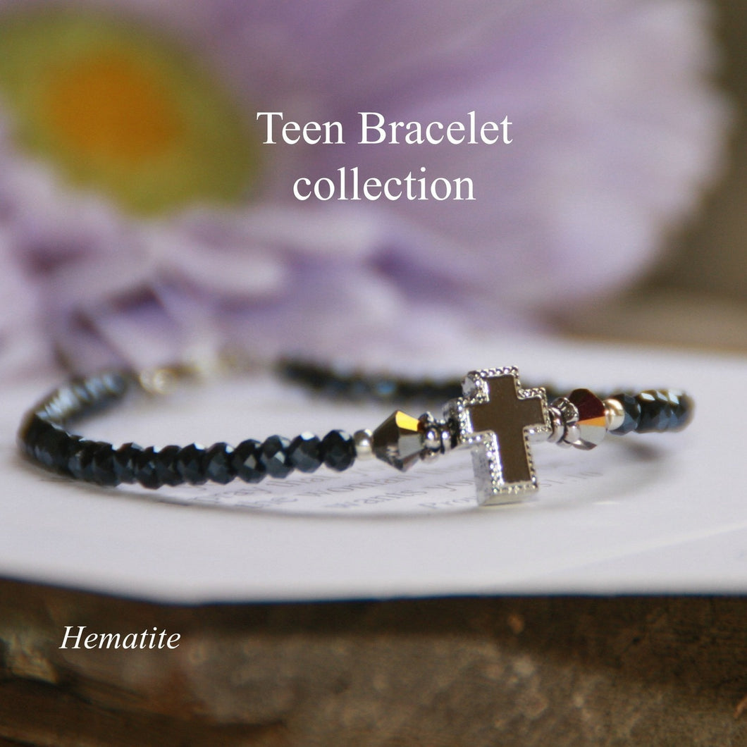 Teen Prayer Bracelet- Hematite