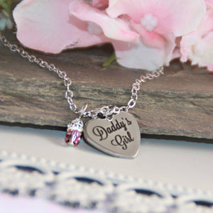 Daddy's Girl Stainless Steel Heart Necklace