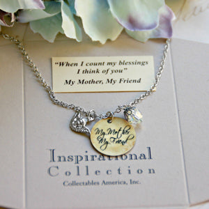 My Mother, My Friend Charm Necklace