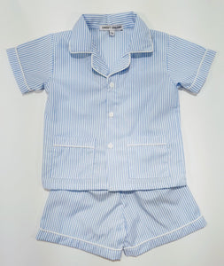 Short Sleeve Blue Stripe PJ