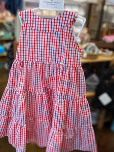 Gingham Red and White Frannie Dress