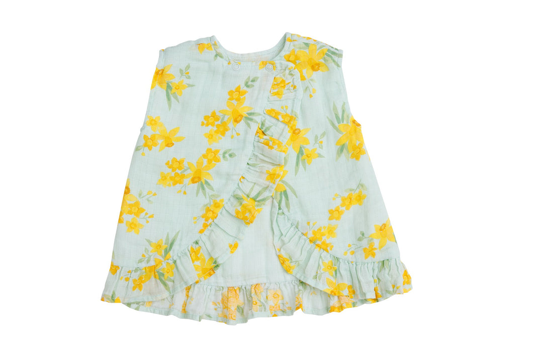 Daffodils Ruffle Top and Bloomers- Mint