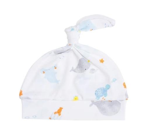 Baby Shark Knotted Hat- White