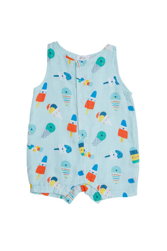 Popsicles Shortie Romper- Blue
