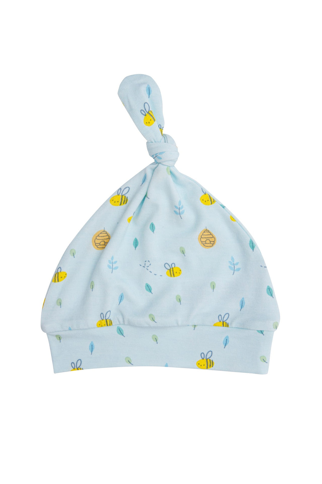 Little Bee Knotted Hat- Blue