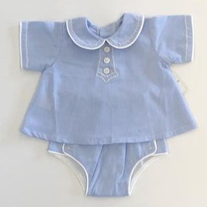 Blue Devon Diaper Set