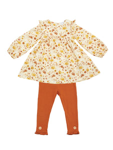 Daisy Baby Ruffle Dress and Leggings