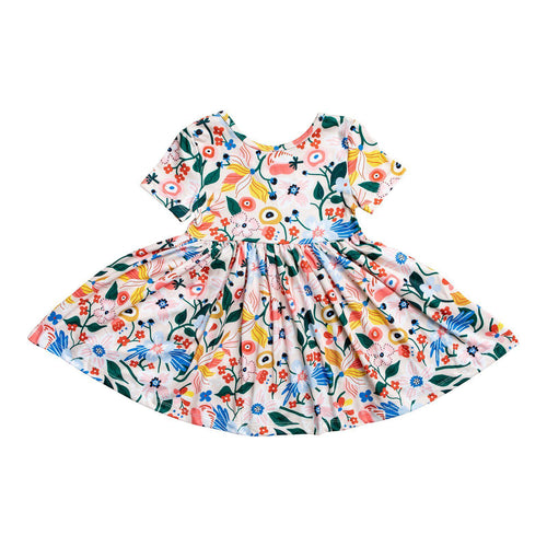 Flower Garden Short Sleeve Twirl Dress