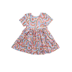 Groovy Girl Short Sleeve Twirl Dress