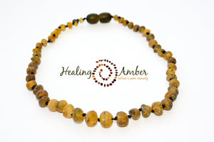 Baltic Amber Necklace 11 inch