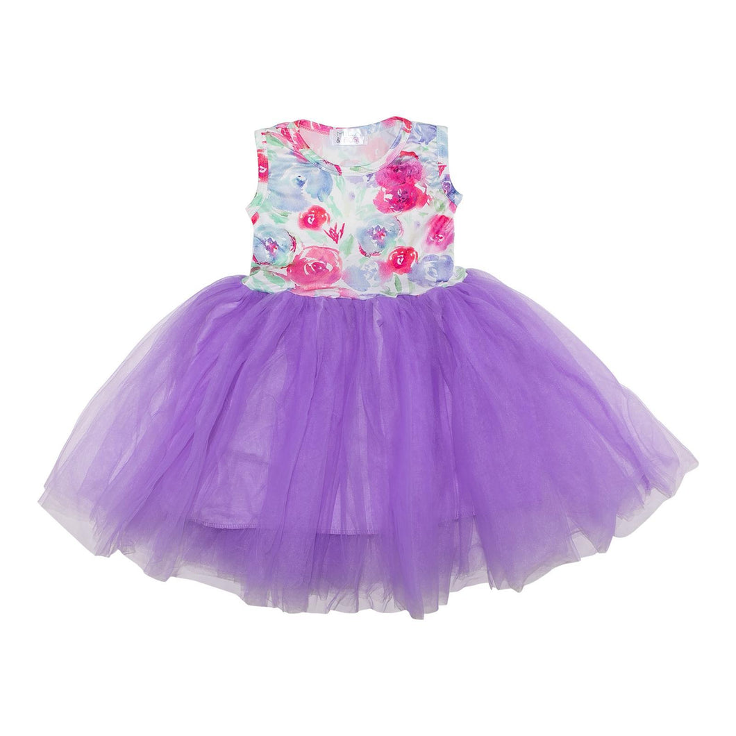 Watercolor Print Tank Tutu Dress