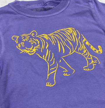 Tiger Shirt- Purple and Gold