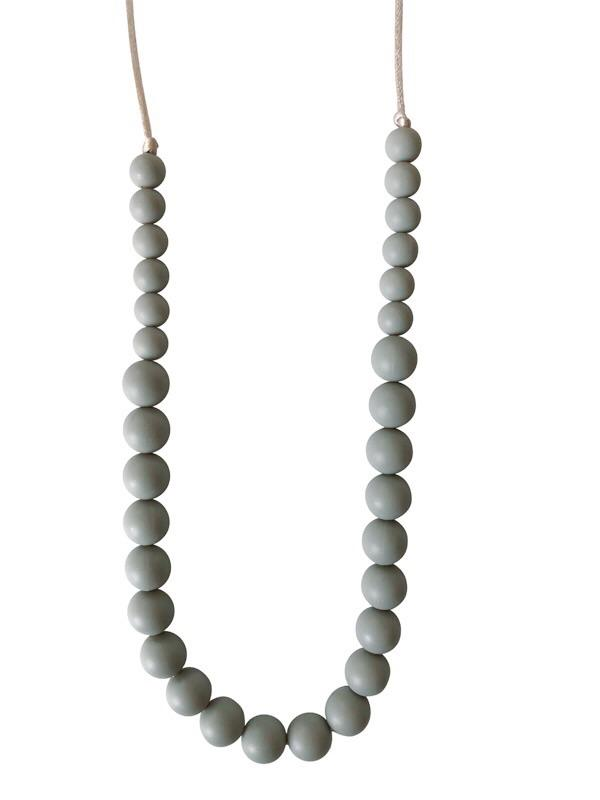 Ariana Teething Necklace- Grey