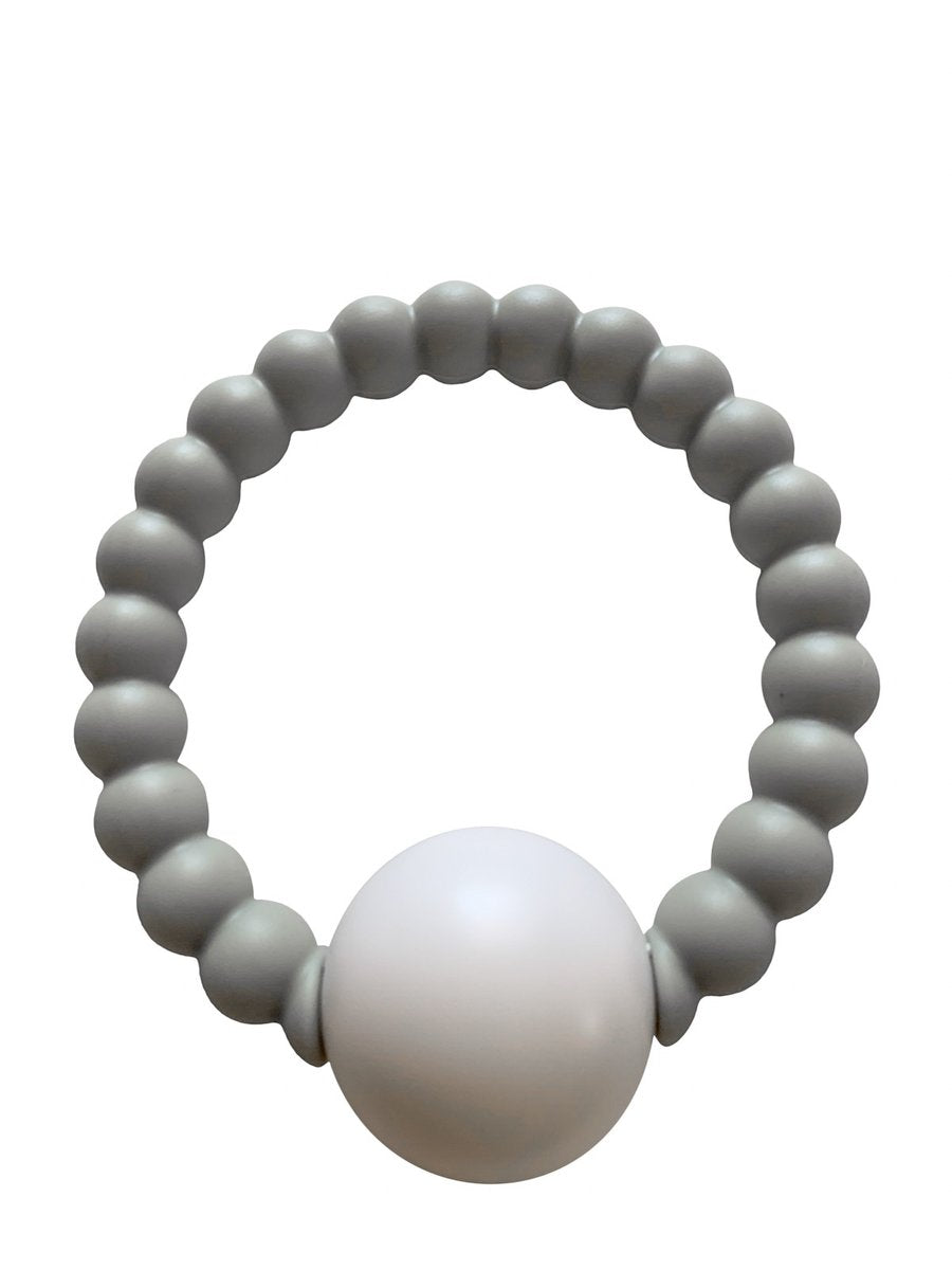 Teether Toy Rattle - Grey