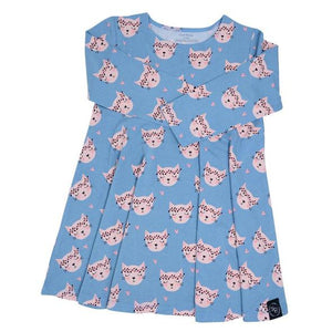 Swirly Girl Dress- Hippy Kitty