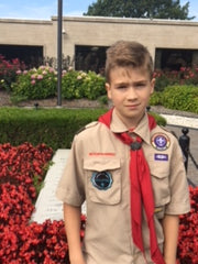 Citizenship In the Nation merit badge class, at President Truman's grave