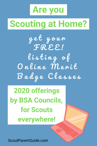 Scouting at Home, Online Merit Badge Classes, BSA Councils