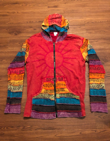 Vintage Earth Wind And Fire Colored light hoody Men s L  Women s Xl 661aaf213