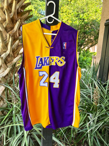 Half And Half Los Angeles Lakers Kobe Bryant Jersey #24 Xl Great ...