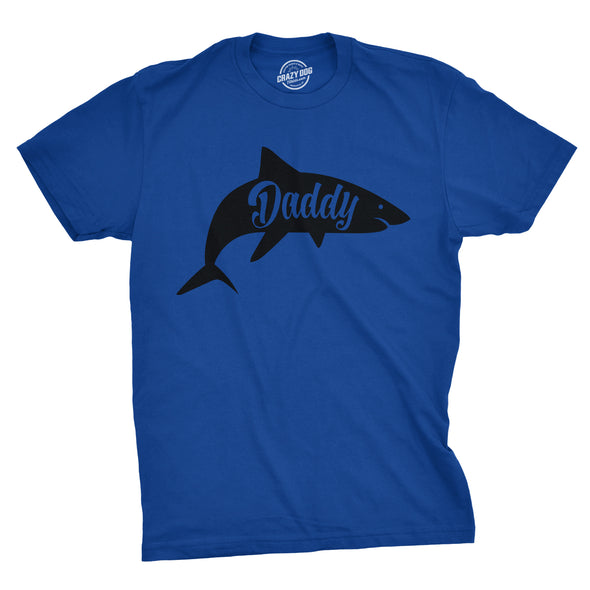 Funny Royal Daddy Shark Mens T Shirt Nerdy Father's Day Shark Week Tee