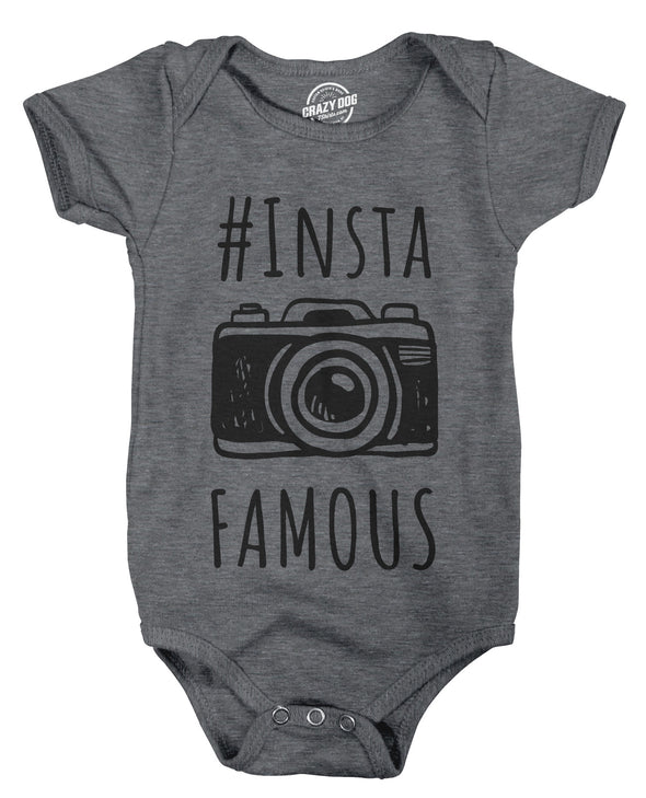 Instafamous Baby Bodysuit - infant rompers - CrazyDog T-Shirts