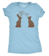 Funny Light Blue Womens T Shirt Nerdy Easter Sarcastic Tee