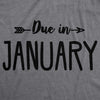 Due In January Maternity Tshirt