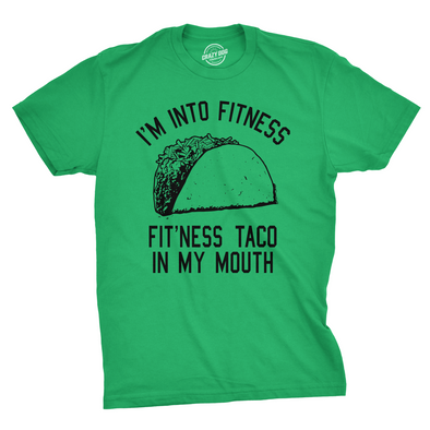 f4bbbdfdd2 Fitness Taco In My Mouth Men's Tshirt – Crazy Dog T-Shirts