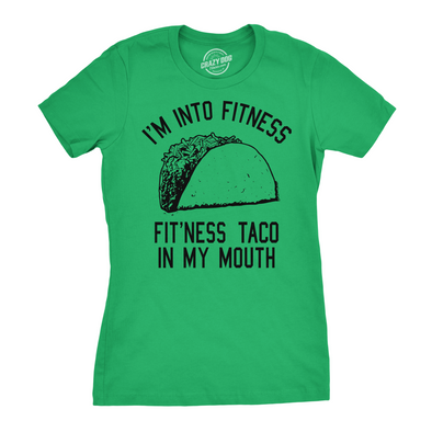 Fitness Taco In My Mouth Women's Tshirt