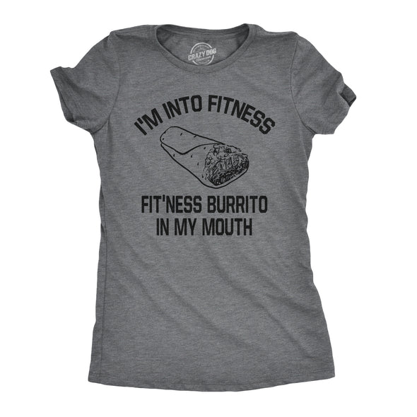 Funny Fitness Burrito Womens T Shirt Nerdy Cinco De Mayo Fitness Food Sarcastic Tee