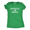 Funny Heather Green Nevertheless She Persisted Womens T Shirt Nerdy Political Tee
